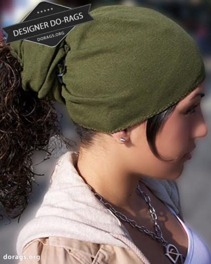 army green do-rag