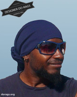 blue do-rag