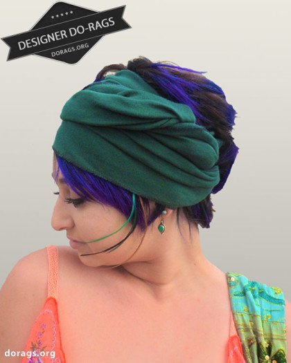 forest green do-rag