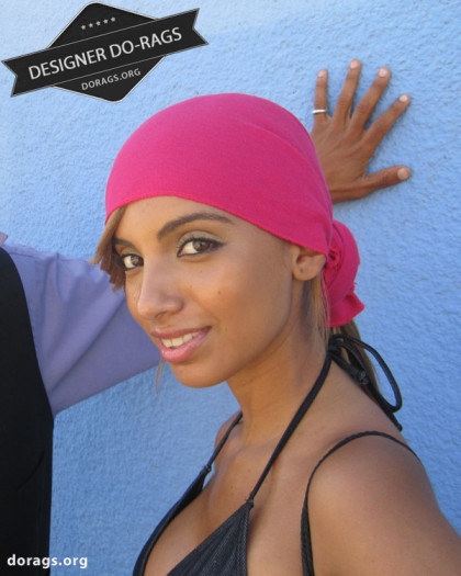 hot pink do-rag